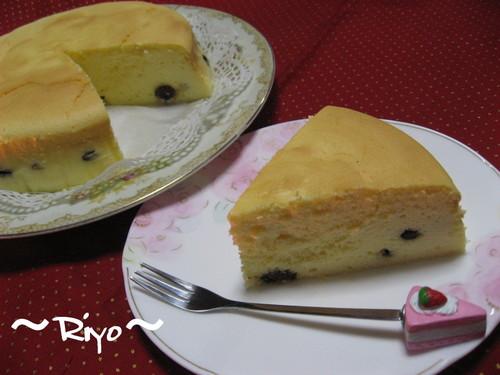 スフレチーズケーキ(ラムレーズン入り)