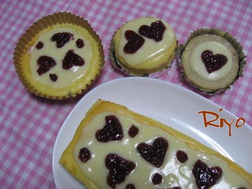 チーズケーキ(ラズベリージャム)