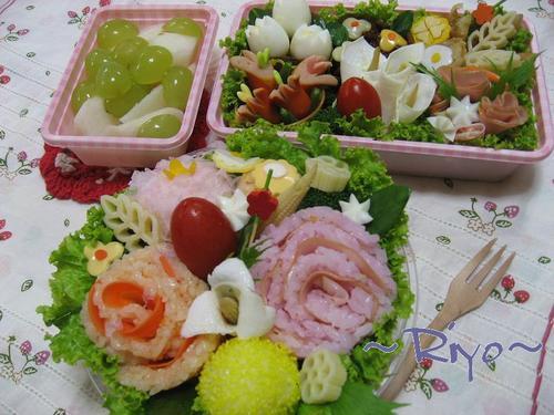 【お花のお弁当】~プチオフ会~